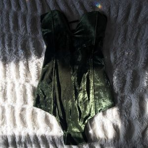Green believer body suit- s/m